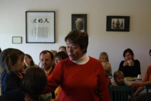 Tetsue roshi bij de familie-sesshin