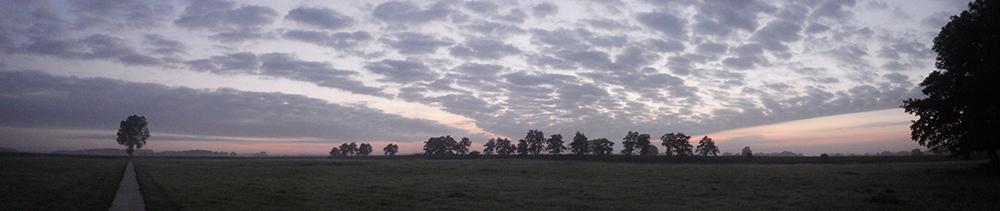 Het land van Noorder Poort bij zonsopgang