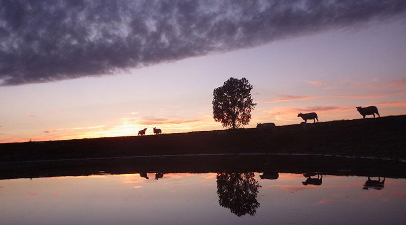 Noorder Poort, zonsondergang