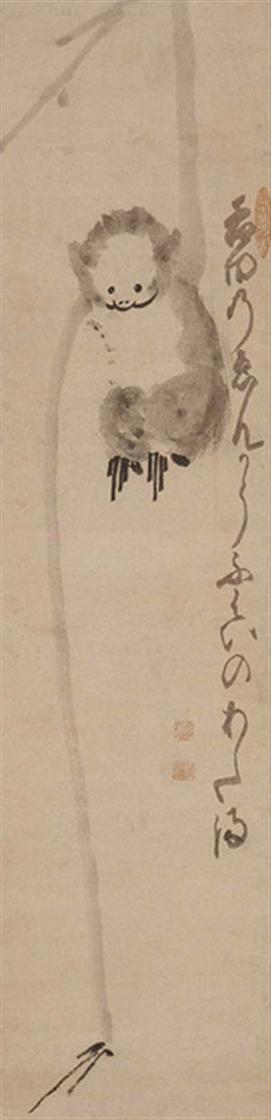 Hakuin Ekaku (1686-1768), Aap reikt naar de maan